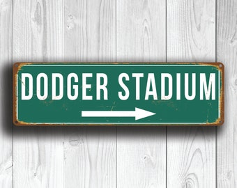 DODGER STADIUM Sign, Vintage style Dodger Stadium Sign, Dodger Stadium Signs, Home of the LA Dodgers, baseball Gifts, Los Angeles Dodgers