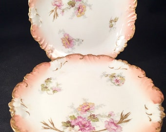 Set of ( 4 ) Antique Limoges Plates by LS&S