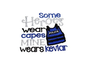 Baby Bib, Baby Police, Heroes Kevlar, Police Baby, 0 to 6 mos, 6 mos to Toddler, Shower Gift for Cop, Embroidered Bib, LEO Baby Gift,