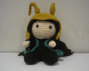 Handmade Crochet Amigurumi Loki Doll - Marvel Avengers
