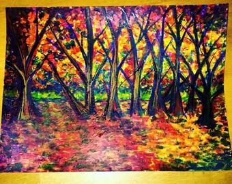 sleek autumn trees