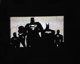 Justice League Lamp (Superman, Batman, Wonder Woman, and The Flash)
