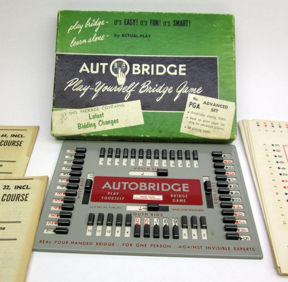 Items Similar To Vintage 1957 Autobridge Playing Game Pga