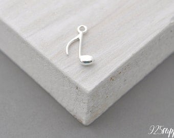 925 Silver Pendant hint, Silver hint, hint pendant, a hint of necklace, bracelet hint, hint, music, note, note pendant, silver note
