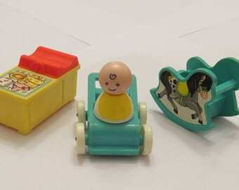 Vintage Fisher Price Little People  Infant