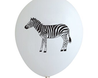 Zebra Party Balloons (Pkg of 3) - PB1127