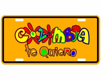 Colombia Te  Quiero - Colombia Decorative License Plate