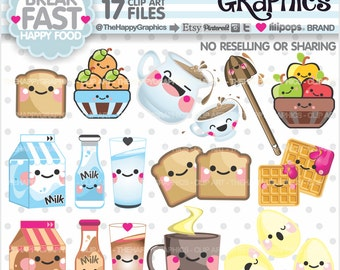 80%OFF - Breakfast Clipart, Breakfast Graphics, COMMERCIAL USE, Food Graphics, Fruits, Planner Accessories, Meal, Breakfast Party