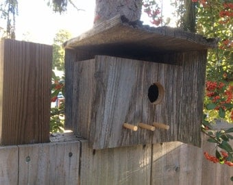 Pleasure Point redwood birdhouse