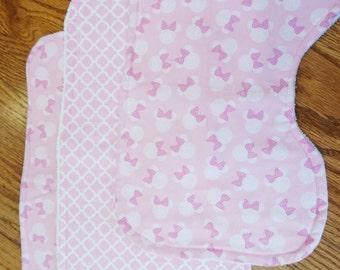 Minnie Mouse Burp Cloths - Set of 3