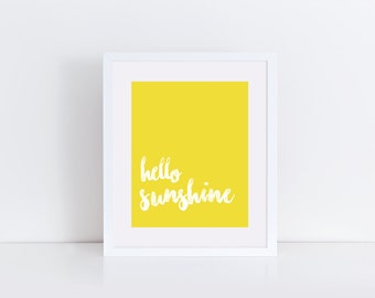 Hello Sunshine 8x10 Print | Instant Download