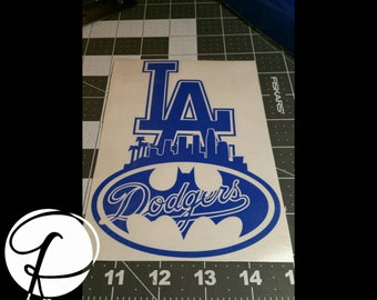 Dodgers Decal Etsy