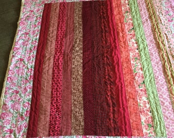 Handmade strip quilt