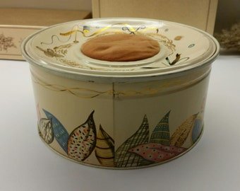 1950's - 1960's SEWING TIN with PIN Cushion On Top