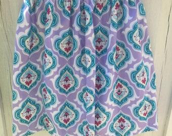 Purple & Blue cotton skirt