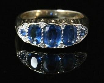 Antique Sapphire & Diamond Ring - Beautiful Sapphires