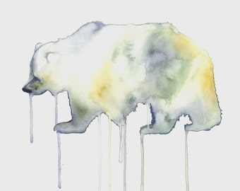 Watercolour Spirit Bear Print