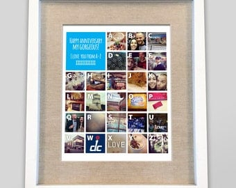 I love you from A-Z personalized artwork