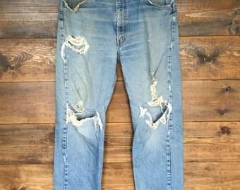 Levi's Orange Tab 505 Jeans