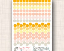 InkWELL Press Planner Stickers | Pint-Sized Circles & Hexagons | 168 Stickers Total | #SF80IWP4