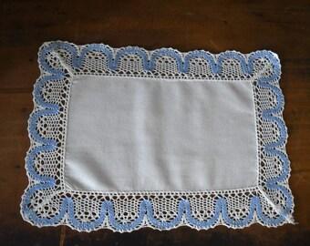 Vintage Linen - Vintage Doily - Crochet Linen Doily - Cottage Style