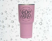 SIC 30 ounce pink blue black double walled stainless steel tumbler