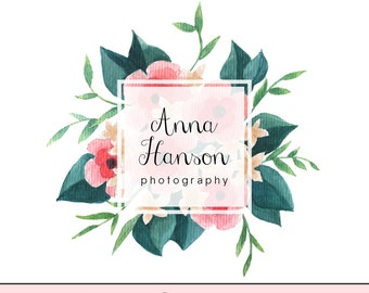 Instant download logo - Pre-made Logo - Photography Watermark - Flower Watermark Design - Flower Logo - Floral Logo - Photography Logo 15