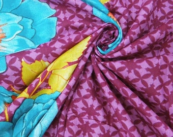 """Decorative Cotton Fabric For Sewing Designer Floral Print Fabric Sewing Cotton Purple Dress Sewing Material 42"""" Width By 1 Yard ZBC2142"""