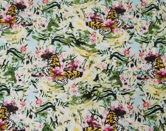 Multicolor Printed Pure Cotton Fabric Sewing Designer Dress Making Sewing Crafting  Material Indian Decorative Fabric By 1 Yard ZBC4921