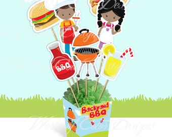 "Printable Centerpiece "" BBQ"" (Instant download)"