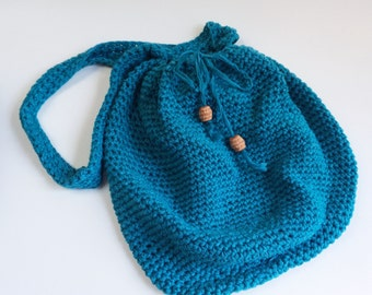 Crochet Market Bag Recycled Eco Friendly Purse