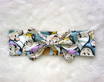 Snow White and Seven Dwarves Headwrap, Disney Headwrap, Disney Headband, Disney Knit Fabric Headband and Headwrap