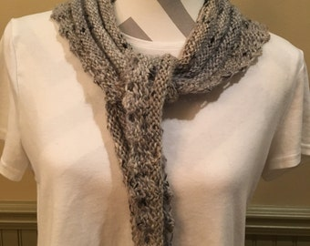 Hand knitted shawlette
