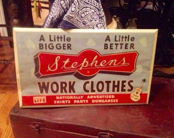 Old store Stephens work clothes Overalls / Nashville Grand Ole Opry Sign / SALE