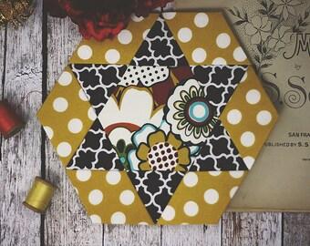 Cara Mia: English Paper Pieces/Piecing Kit/Fabric/Mug Rug
