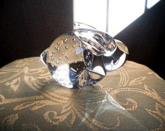 Art Glass Rabbit Paper Weight