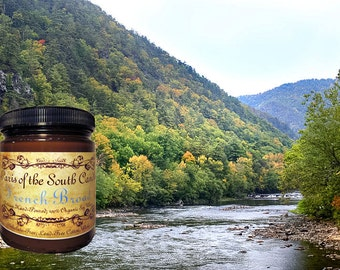 French Broad Candle, Soy Candle, Organic, Container Candle, Asheville NC, Scented Candle, Essential Oils, Soy Wax