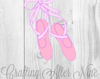 Ballerina Shoes SVG, Ballet Shoes SVG, Dance Svg Cut File, Ballet Svg, Ballerina Shoes SVG, Cut Files for Silhouette and Cricut