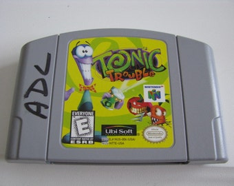 Vintage Tonic Trouble Game for Nintendo 64 Entertainment System