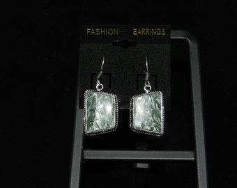 Seraphinite Charm Dangle Earrings