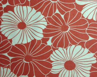 Coral and White Flowers, Simply Style by Vanessa Christenson of V and Co. for Moda Fabrics, 100% Cotton