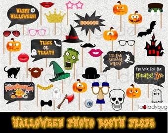 Halloween photo booth props. Halloween photo props. Printable. DIY halloween bubble speech. Instant download. PDF file. Instant Download.