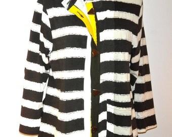 Horizontal Striped Cotton Tunic - FA15-5031