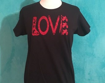 LOVE dirtbike front/back tee