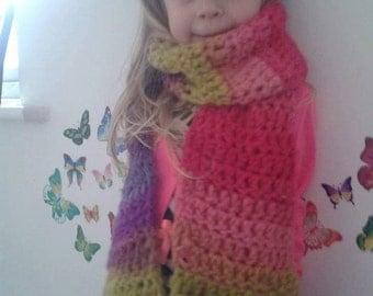 Children's scarf, Merino wool