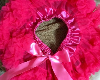 Pink baby girl tutu with matching headband photo prop 0-6 months