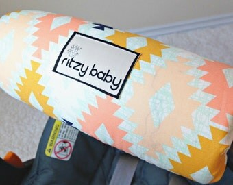 Arizona Agave Fields Arm Pad for Infant Car Seat Handle, Optional Monogram