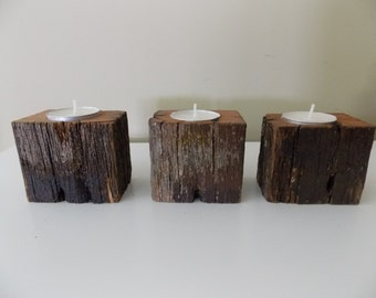 Fence Post Candle Holders