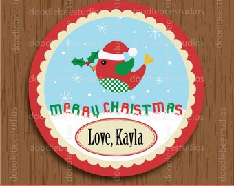Christmas Labels, Printable Christmas Labels, Christmas Bird Labels, Christmas Tags, Christmas Label, Christmas Tag, Bird Labels, Bird Tags