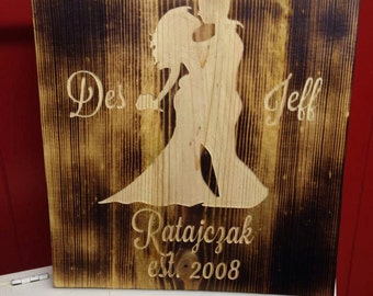 Custom Wedding / Anniversay Wood Milled Boards